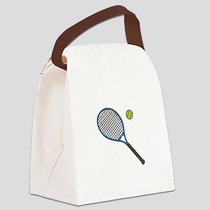 Racquet & Ball Canvas Lunch Bag