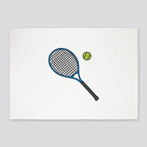 Racquet & Ball 5'x7'Area Rug