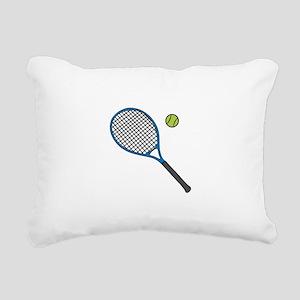 Racquet & Ball Rectangular Canvas Pillow