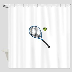 Racquet & Ball Shower Curtain
