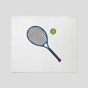 Racquet & Ball Throw Blanket