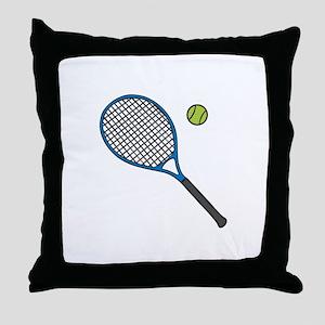 Racquet & Ball Throw Pillow