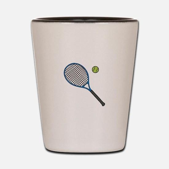 Racquet & Ball Shot Glass