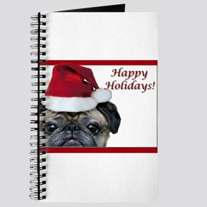 happy holidays pug Journal