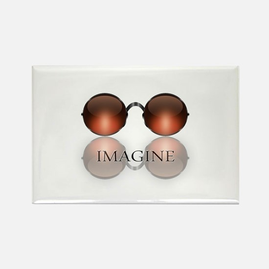 round glasses blk Magnets