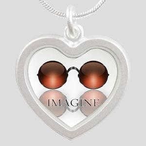 round glasses blk Necklaces