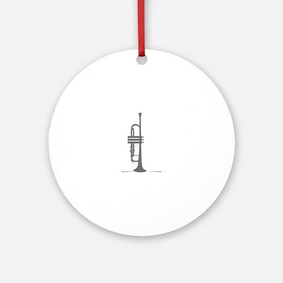 Upright Trumpet Ornament (Round)