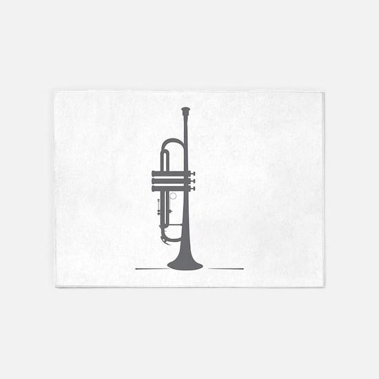 Upright Trumpet 5'x7'Area Rug