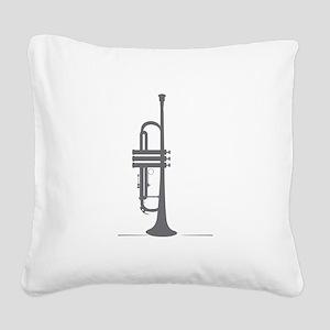 Upright Trumpet Square Canvas Pillow
