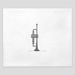 Upright Trumpet King Duvet