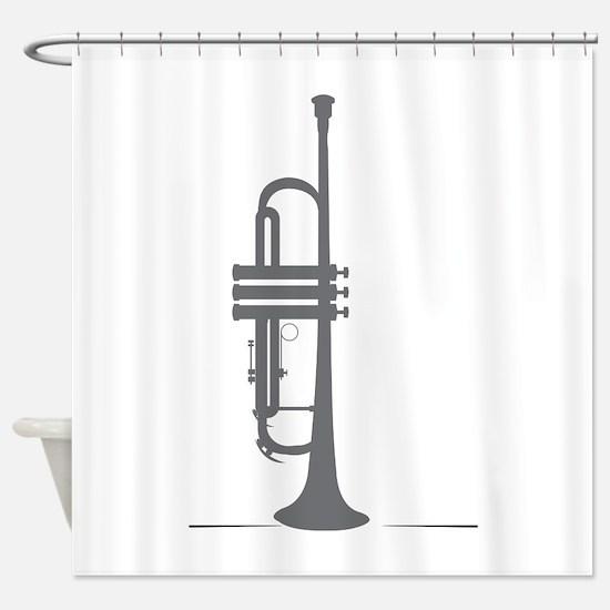 Upright Trumpet Shower Curtain
