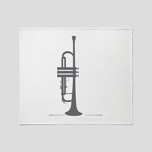 Upright Trumpet Throw Blanket