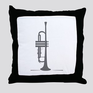 Upright Trumpet Throw Pillow
