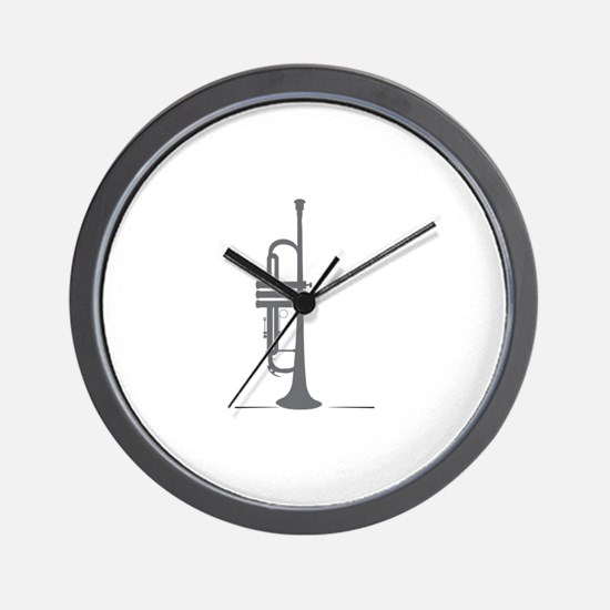 Upright Trumpet Wall Clock
