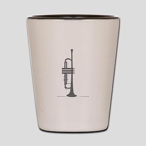 Upright Trumpet Shot Glass