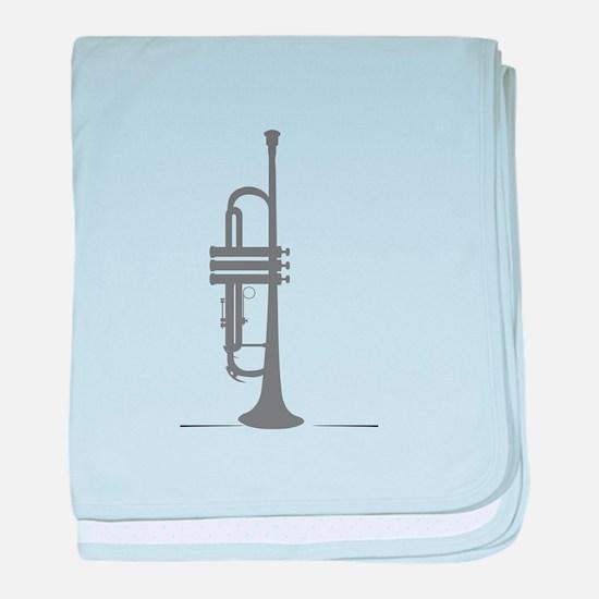 Upright Trumpet baby blanket
