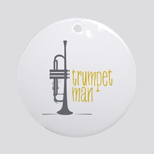 Trumpet Man Ornament (Round)