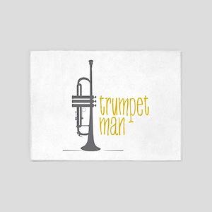 Trumpet Man 5'x7'Area Rug
