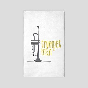 Trumpet Man 3'x5' Area Rug