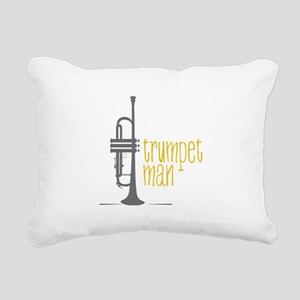 Trumpet Man Rectangular Canvas Pillow