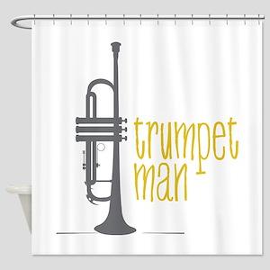 Trumpet Man Shower Curtain