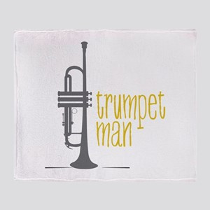 Trumpet Man Throw Blanket