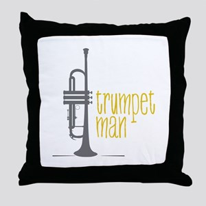 Trumpet Man Throw Pillow