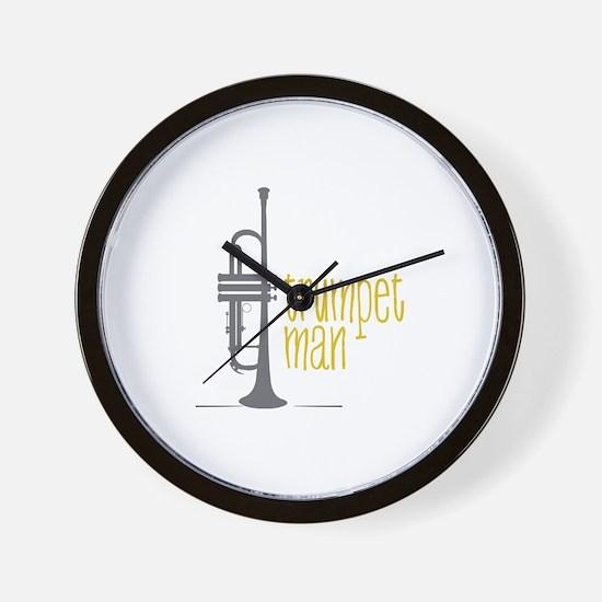 Trumpet Man Wall Clock