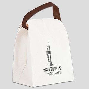 Trumpets Kick Brass Canvas Lunch Bag