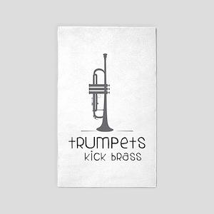 Trumpets Kick Brass 3'x5' Area Rug