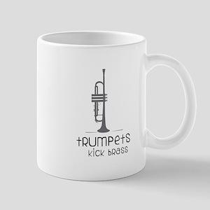 Trumpets Kick Brass Mugs
