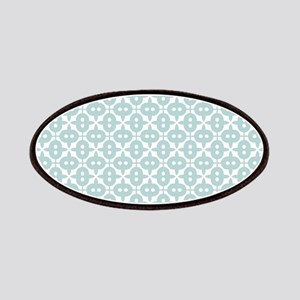 Mint and White Tile Pattern Patches