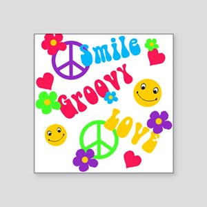 Smile Groovy Love Peace Sticker