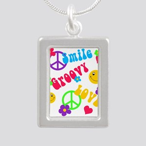 smile groovy love Necklaces