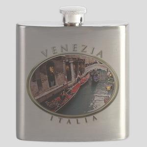 Gondolas in Venice Flask