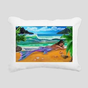ENCHANTED MERMAID Rectangular Canvas Pillow