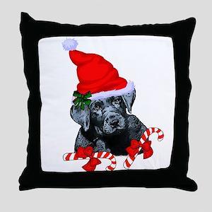 Black Labrador Retriever Christ,as Throw Pillow