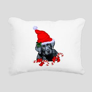 Black Labrador Retriever Rectangular Canvas Pillow