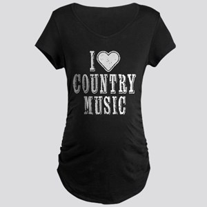 I Love Country Music Maternity T-Shirt