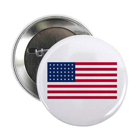 35 Star US Flag Button