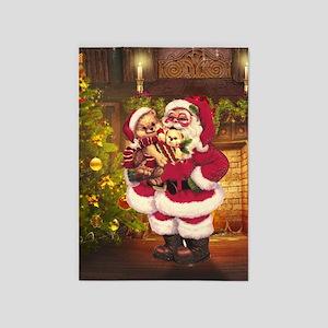 Santa Claus 3 5'x7'Area Rug