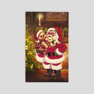 Santa Claus 3 3'x5' Area Rug