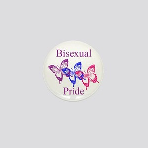 Bisexual Pride Butterfly Mini Button
