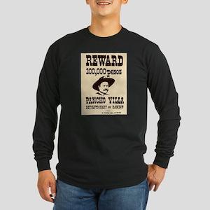 Wanted Pancho Villa Long Sleeve Dark T-Shirt