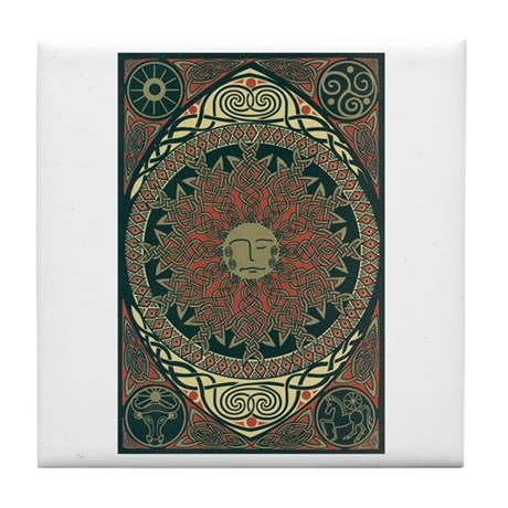 Sun and Moon Symbolism Tile Coaster