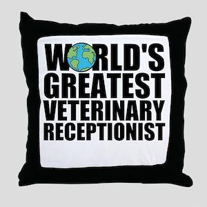 World's Greatest Veterinary Receptionist Throw