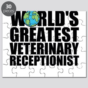 World's Greatest Veterinary Receptionist Puzzl