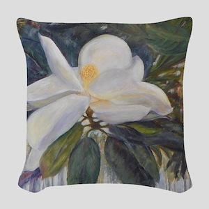 OLD FLORIDA MAGNOLIA Woven Throw Pillow