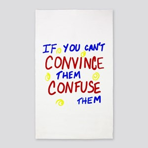 Confuse Them 3'x5' Area Rug
