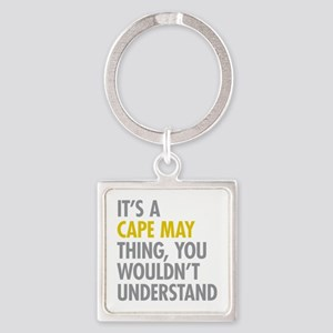 Its A Cape May Thing Square Keychain